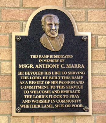 Msgr. Marra Plaque