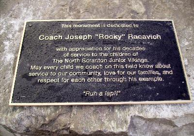 Coach's Plaque