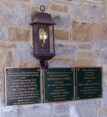 Church Dedication Plaque