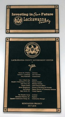 Lackawanna County Plaque