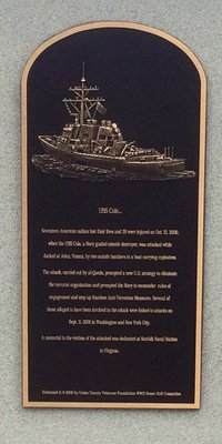 USS Cole Plaque